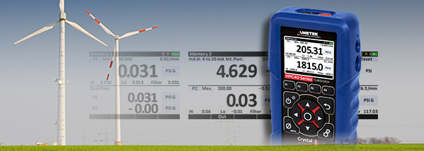 Calibrate hydraulic systems in wind turbines with the HPC40 Series pressure calibrator.