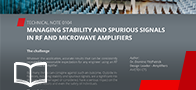 Stability and spurious signals in RF and Microwave Amplifiers
