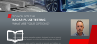 Radar pulse test
