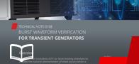 Burst Waveform Verification for Transient Generators