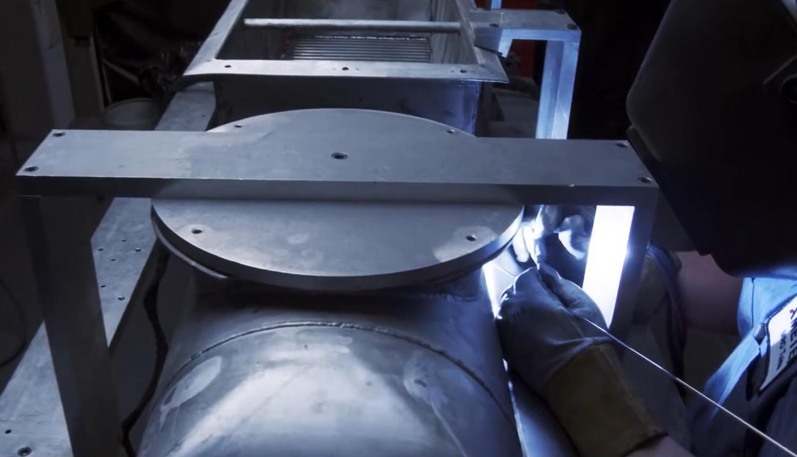 AMETEK MRO employee welding aircraft component