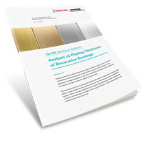 Analysis of Plating Thickness of Decorative Coatings