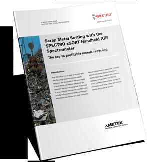 Scrap Metal Sorting with the SPECTRO xSORT Handheld XRF Spectrometer
