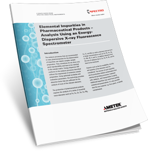 Elemental Impurities in Pharmaceutical Products – Analysis using an Energy-Dispersive X-ray Fluorescence Spectrometer