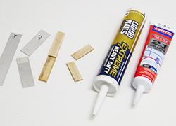 Lap shear joint adhesive tensile test