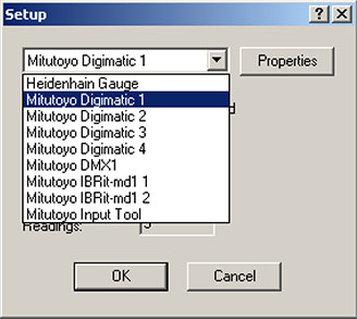How do I connect my Mitutoyo or Heidenhain input device to my NEXYGENPlus