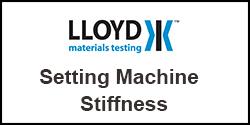 How do I set machines stiffness on Plus Series test machines