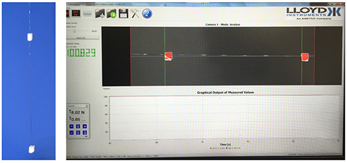 VE1 Video Extensometer for Small Diameter Wire Testing